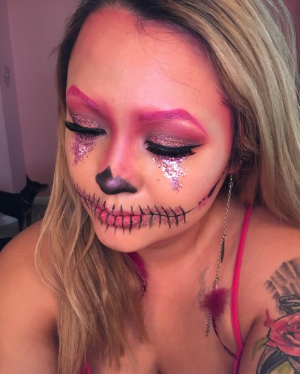 Glitter Pink Skull